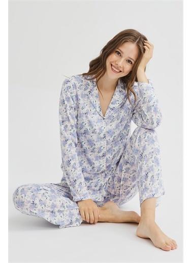 Penti Blue Blossom Pijama Takımı Renkli